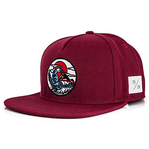 Blackskies 10th Anniversary Snapback Cap   Limitiert auf 150 STK.   Damen Herren Baseball Mütze Kappe Basecap Surfer Skater Maroon
