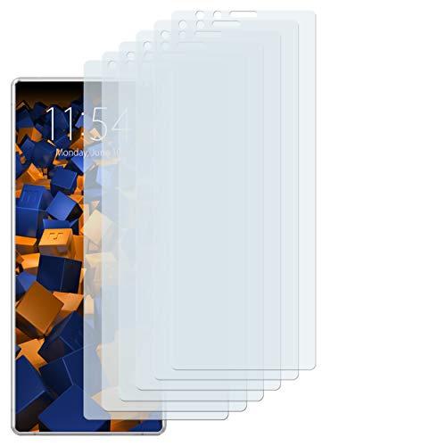 mumbi Schutzfolie kompatibel mit Sony Xperia 1 Folie klar, Displayschutzfolie (6X)