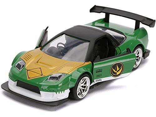 Jada Toys Power Rangers 1:32 Green Ranger 2002 Honda NSX Type-R Die-cast Cars, Toys for Kids and Adults