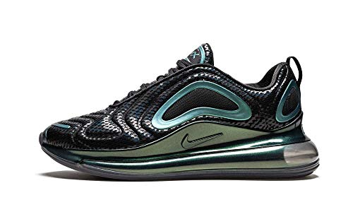 Nike Men's Air Max 720 Black/Black-Metallic Silver (AO2924 003) - 9