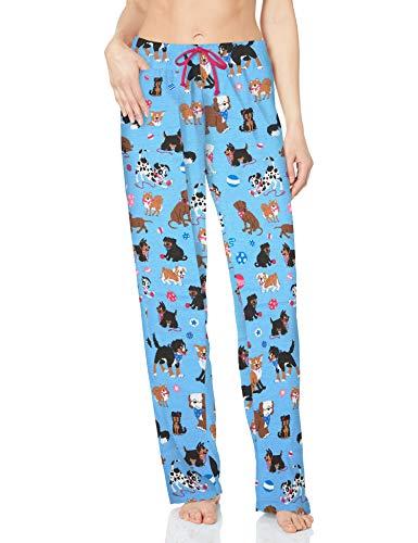 Hatley Ladies PJ Pants-Pink /& Navy-Moose Bas de Pyjama Femme