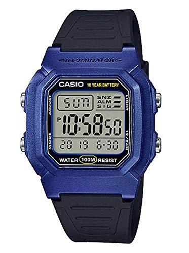 Casio Reloj Digital para Hombre de Cuarzo con Correa en Resina W-800HM-2AVEF