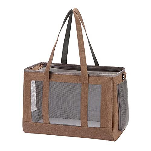 Yoommd Transportín plegable para perros pequeños, cachorros y gatos de nailon Oxford con ventana de malla transpirable