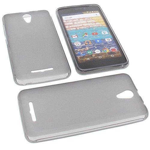 foto-kontor Tasche für Archos 50f Neon Gummi TPU Schutz Handytasche grau
