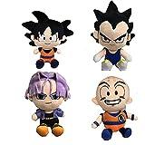 mingmi 4 Unids / Set 20-25 Cm Dragon Ball Peluches De Peluche Son Goku Kuririn Vegeta IV Torankusu Q...