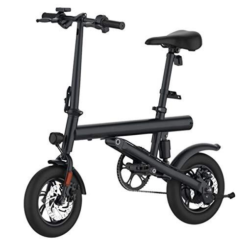 AZUNX Elektrofahräder Trapbares Bicicleta Eléctrica 12 Scooter Rodillo Elektrisch Angetrieben Pedalmodus LCD - Schwarz 100-240V 250-300W 7 8Ah
