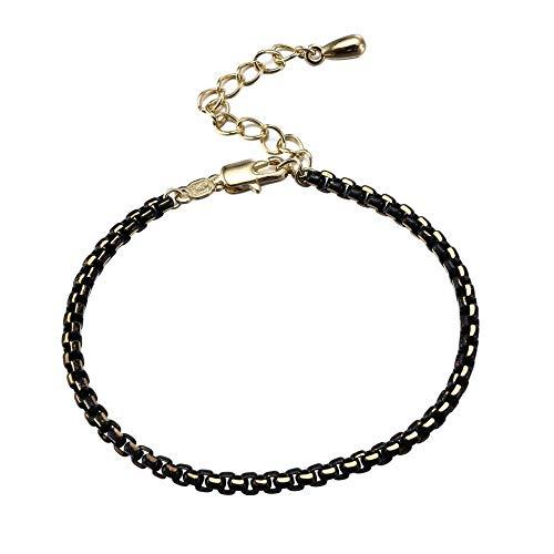 Pulsera de fantasía para mujer, cadena de cobre, color doble.