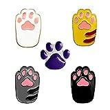 Holibanna 5Pcs Katze Hund Klaue Broschen Niedlichen Cartoon Tier Pins Weihnachten Kostüm Liefert für Erwachsene Kinder