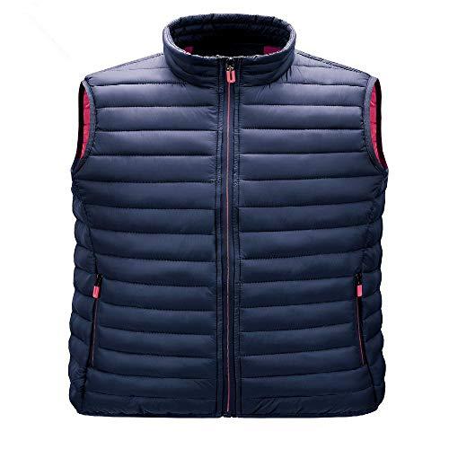 Chaleco de otoño de los hombres cuello de pie acolchado chaqueta de algodón con chaqueta de hombro y chaleco delgado para hombres