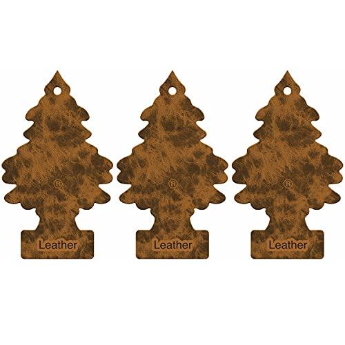 LITTLE TREES LTZ016 Deodorante per Auto, Pelle, 3-Confezione, Set di 3