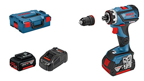 Bosch Professional Akku Bohrschrauber GSR 18V-60 FC (2x 5,0 Ah Akku,18 Volt, Schrauben-∅ max.: 10 mm, max. Drehmoment: 60 Nm, in L-BOXX)