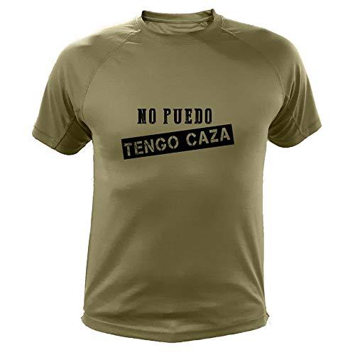 AtooDog Camiseta de Caza, No Puedo Tengo Caza - Regalos para Cazadores (30176, Verde, XL)