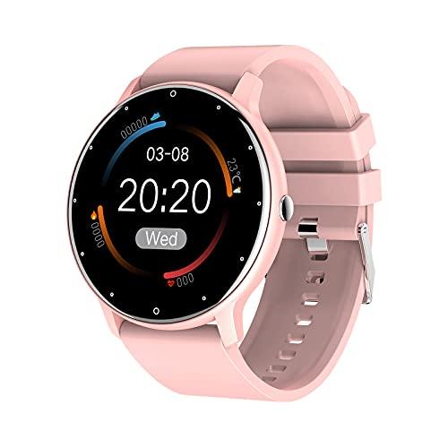B Blesiya Reloj Inteligente, rastreador de Actividad, Reloj Inteligente Resistente al Agua, Reloj Inteligente para Hombres y Mujeres, para teléfonos iOS - Rosa