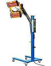 MSW IR-DRYER2000.1 Secador de Pintura Infrarrojo para Carrocería Coche (2200 W, 2 Lámparas, 40–100 °C, Superficie de Secado 800 x 1000 mm, Altura Máxima 224 cm, Temporizador 1–99 min)