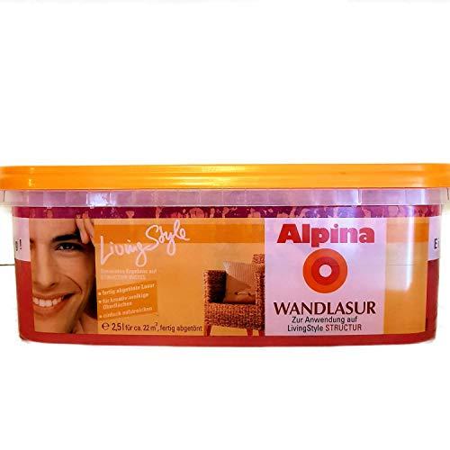 Alpina Living Style Wandlasur, Dream, Wilde Beere, altrosa, 2,5 L