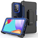 xihaiying Phone Case for Samsung Galaxy A52 5G case,Heavy Duty Hard Shockproof Protector Armor Case Cover with Belt Clip Holster for Samsung Galaxy A52 5G Phone Case (Navy Blue)