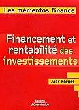 Financement et rentabilité des investissements - Maximiser les revenus des investissements