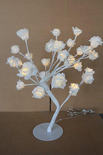 Albero con rose 32 LED Bianco Caldo Albero luminoso Petali Altezza 45 cm IP20 per interni