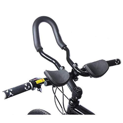 Wopohy Fahrrad Aero Lenker Bar integrierte Fahrrad Rest Lenker Verstellbarer Triathlon-Lenker Aluminiumlegierung für Rennräder und Mountainbike Fahrrad