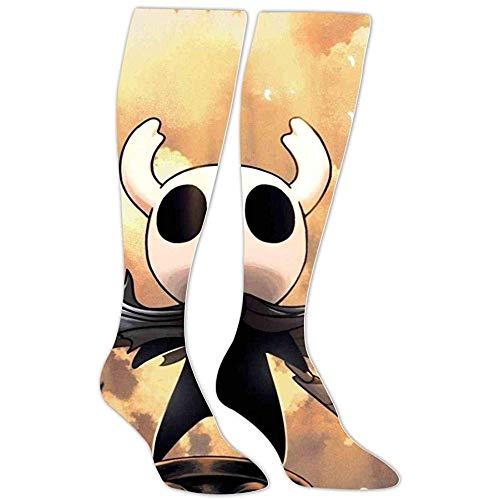 yantaiyu-sock Calcetines Gráficos Calcetines Deportivos Grim-M Fight Ho-Llow Knight Calcetines Hasta La Rodilla Estampados En 3D Unisex Calcetines Deportivos De Algodón