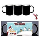 YXYLQ Magic Mug Cartoon Weihnachtsbecher Hitze Farbwechsel Morph Becher 300Ml Kaffeetasse Bier Milchbecher Mit Cookie Großhandel Xicara-Blue_301-400Ml