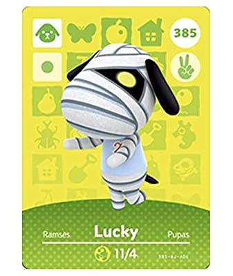 No.385 Lucky ACNH Animal Villager Cards Series 4. Third Party NFC Card. Water Resistant