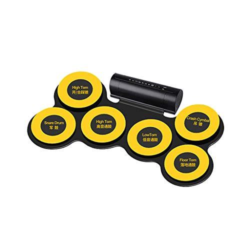 LIUFS-Batteria Tamburi Elettronici Tamburi Piegatori Per Principianti (colore : Giallo)