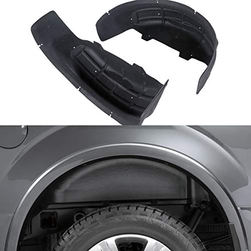 ARICWJ 4pcs for 2015-2019 Ford F-150 Not Raptor Wheel Well Liners Guard Inner Fender Mud Flaps Splash Guards