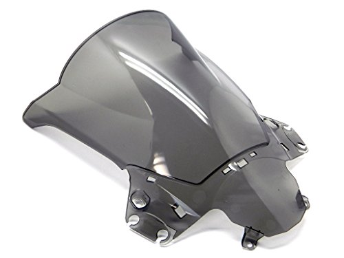 9sparts Black | Clear | Smoke Double Bubble ABS Plastic Injection Windscreen Windshield For 2011 2012 2013 Honda CBR250R (Smoke)