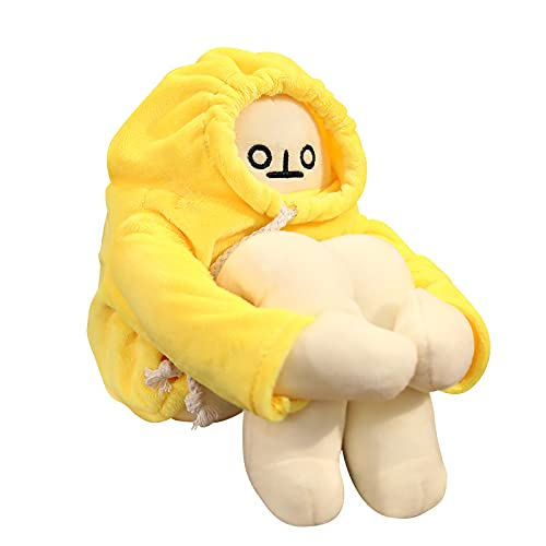 Plush Banana Man Toy Stuffed Doll with Magnet Pose Changeable Funny Man Doll Decompression Toy Birthday Party Festivals Gifts (Banana Man, 7.1in/ 18cm)