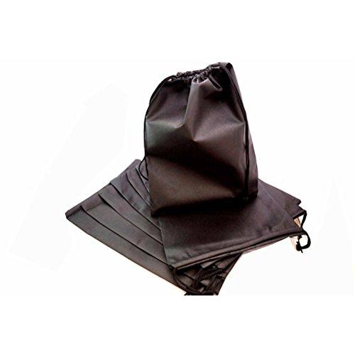Winomo 8pcs Premium qualità Portabile antipolvere Travel Shoe borse Nylon chiusura Scarpe sacchetto
