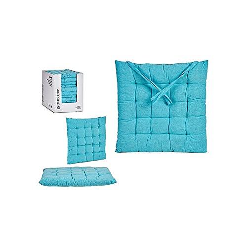 Cuscino per sedie Azzurro (40 x 6 x 40 cm)