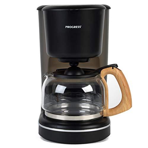 Progress EK3757PGRY Scandi Coffee Maker with Wood Effect Finish