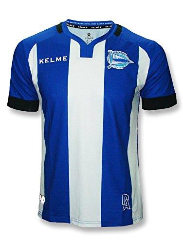 Deportivo Alavés 1ª Equipación Camiseta, Adultos Unisex, Azul/Blanco, XL