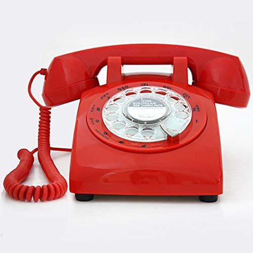 HJL Antico Vintage Landline Classic Retro Rotary Dial Decorazione Landline Antico (Colore : Red)