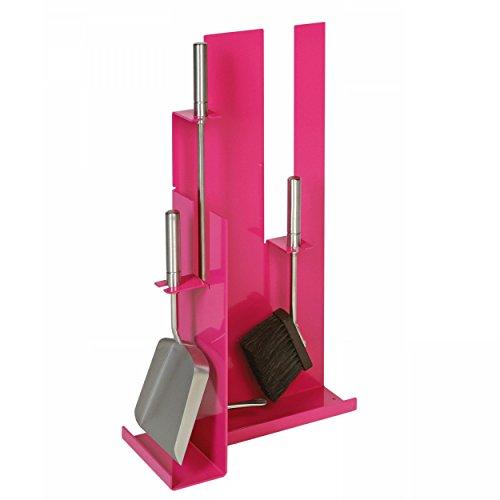 Posate da camino Modello 910 - rosa rivestito con posate & Manici di Acciaio inox