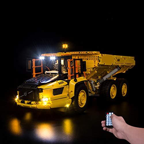 LOSGO LED Beleuchtungsset für Lego Technic Knickgelenkter Volvo-Dumper, LED Licht Modernes Design mit Ton Kompatibel mit Lego 42114