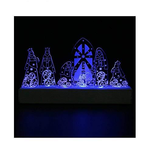 Giftgarden LED Nativity Set Christmas Decoration Holy Family for Christian Catholic Gifts