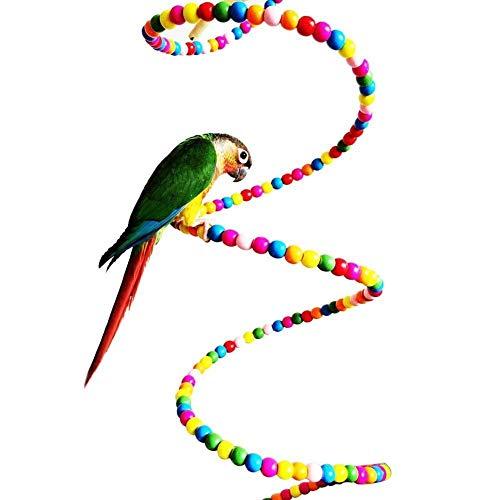Irinay Colorido Cabeza Giratoria Juguete Piel Pájaro Chic Loro Periquito Cacatúa Conure Pinzón Agapornis Canario Cacatúa Gris Africano Amazon Jaula Percha De Pie
