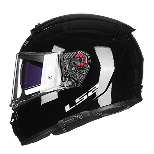 Casque moto hommes et femmes double casque casque racing casque anti-buée locomotive (Couleur : B-Xxxl(61-62cm))