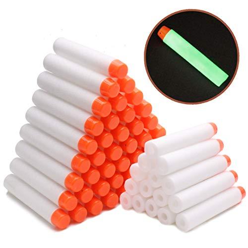 Airlab 100 Nerf N Strike Modulus Spielzeugblaster Kompatibler Pfeile Dart Bullets, Glow, weiß