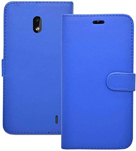Handy Schutzhülle Kompatibel für nokia 2.2 Etui Klapp Ständer Kartenschlitz Kunstleder Magnetverschluss Hülle in Blau