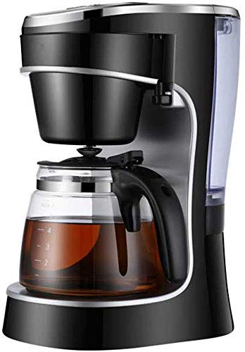 ZKAIAI Máquina de café, filtro de la máquina de café, diseño único de 24 horas programable inteligente goteo Cafetera, Hervidor de cristal, filtro permanente, 800W, 720 ml, Compatible with el espresso
