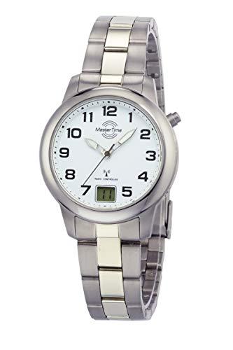Master Time Funk Quarz Damen Uhr Analog-Digital mit Titan Armband MTLT-10654-41M