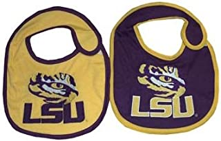 online store 374ab daf8e Game Day Outfitters NCAA LSU Tigers Infant Bib Logo (2 Piece), One Size