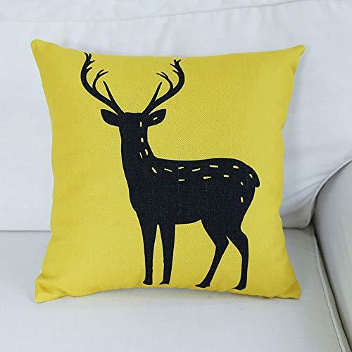 Goldenla Geometrische kussens voor de woonkamer, sofakussen, auto, bureaustoel, lendenkussen, katoen en linnen, eenvoudige kussens