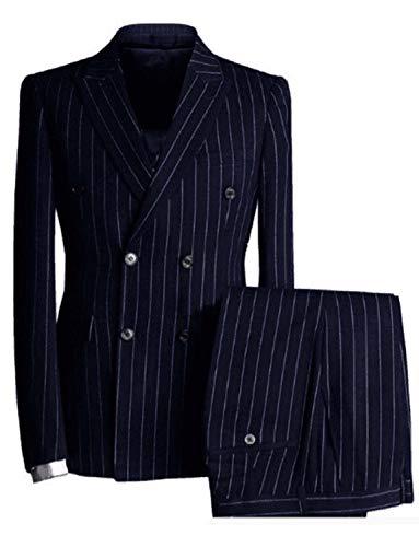 TAM WARE Men's Stylish Wool Blend Pea Coat TWCC05LQ-C12-CHARCOAL-US L
