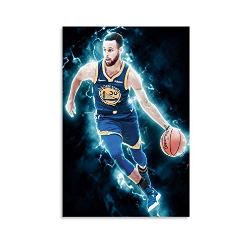 BUGUAN Póster decorativo de lienzo para sala de estar o dormitorio, 40 x 60 cm, para baloncesto (3)