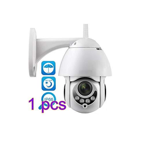 Vimoer 1080p HD Wireless IP Cam met tweewegs-audio, indoor wifi-beveiliging IP-dome-camera met nachtzicht-bewakingscamera voor buiten (met EU-stekker) Camera + u-stekker.