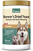 NaturVet – Brewer's Dried Yeast Formula with Garlic Flavoring – Plus Vitamins – Supports Healthy Skin & Glossy Coat – Fortified with B-1, B-2, Niacin & Vitamin C – for Dogs & Cats (1 lb Powder)